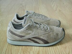 Reebok Classic Ladies Leather Retro Trainers Beige Suede & Brown Size 6 / 39