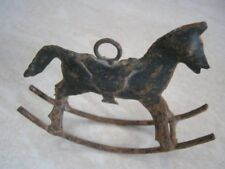 ANTIQUE IRON ROCKING HORSE
