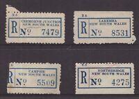 Australia NSW registration labels x 4