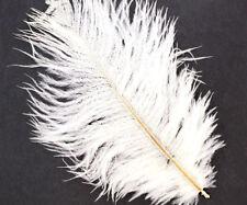 4pcs White Natural Long Ostrich Feathers Tail Fan DIY Hat Wedding Jewelry Boho C