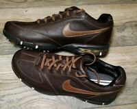 Nike Mens Golf Shoes Size 9.5 Sport Performance - Traction at Contact Brown