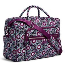 VERA BRADLEY~Iconic Weekender Travel, Carry-On Bag Tote~LILAC MEDALLION~NWT!