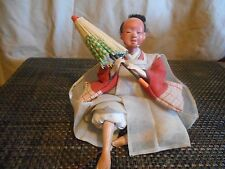 """Japanese Hina Doll -Female-With Umbrella-Vintage 5 1/2"""" Collectible From Japan 1"""