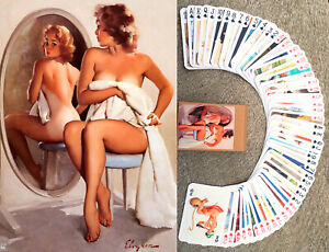 Playing Cards (Poker Deck 54 Cards) PINUP GIRL Vintage Sexy Girls by Elvgren 035
