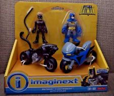 FISHER PRICE IMAGINEXT BATMAN & CATWOMAN WITH CYCLES X4155  *New*