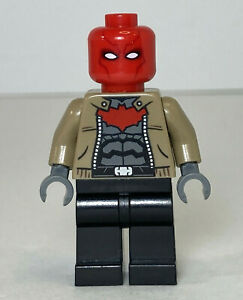 LEGO DC Red Hood Minifigure from Set 76055 sh282 Batman Killer Croc 2016