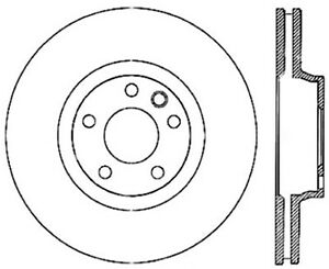 Centric Premium for 03-18 Porsche Cayenne Front Left CRYO-STOP Rotor - sto125.33