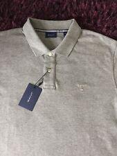 BNWT Smart 100% Genuino Gant Gris Melange Polo Camisa En Xl