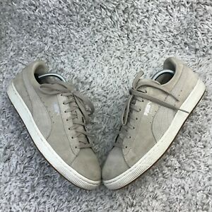 Puma Suede Mens Shoes UK 9 Eur 43 Beige Suede Leather Trainers