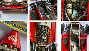 FERRARI 312 T4 1979 PROTAR BUILT KIT + BRASS PLATE + SCHECKTER HELMET SCALE 1/12