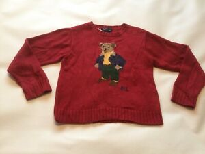Boys Genuine Polo By Ralph Lauren Bear Crew Neck Jumper SIZE Age 6-7 Years VGC
