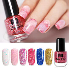 NEE JOLIE Shimmer Sequins Nail Polish Dream Color Pink Gold Purple Flake 3.5ml
