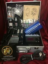 SS1 COMPLETE TATTOO KIT, 2 COIL MACHINE, DIGITAL POWER UK INK AND NEEDLES