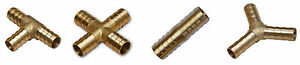 BRASS T JOINER Various Piece Fuel Hose Gas Joiner TEE CONNECTOR (VARIOUS SIZE)