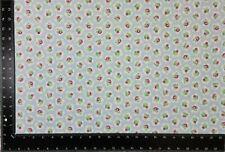 Floral Azul Blanco Flores Rosa 100% Algodón Alta Calidad Fabric Material 3 Talla