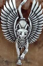 Bastet Cat Memorial Amulet | Cat Urn Necklace Cat Ash Keepsake Cremation Pendant
