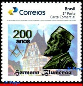 63 BRAZIL 2019 HERMANN BLUMENAU, MASONRY, FREEMASON, ARCHITECTURE, MNH