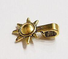 20 Medium Antique Gold Sun & Moon Glue Bails 4 Pendants Cameos Cabs Glass Tiles