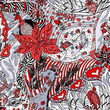 Red Animal Collage BT yard From Paintbrush Studio Imagine This Collection