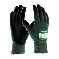 NEW PIP 34-8743/L MaxiFlex Cut, Green Eng Yarn, Black A2/EN3 Gloves