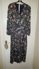 Glamorous Curve Blue Floral Jumpsuit UK Size 22 Fully Lined