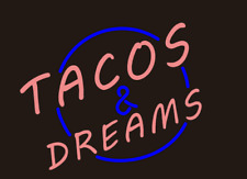 New TACOS& DREAM HANDCRAFTED Real Beer BAR Pub Garage NEON LIGHT SIGN