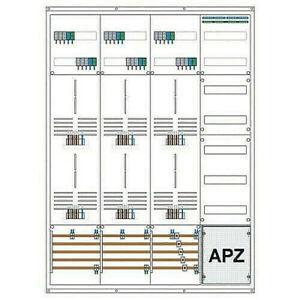 Zählerschrank/Zählerverteiler/ 6 Zählerplätze/1Verteiler/vorverdrahtet 3HZ + APZ