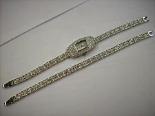 ADRIENNE LIMITED EDITION RHINESTONE WATCH AND BRACELET SET *2 PIECE SET FREE SHP