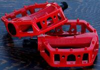"""Red Platform Bike Pedals 9/16"""" Fixed Gear Track BMX MTB Cruiser Fixie Bicycle"""