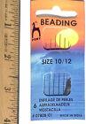 "Assorted 4.5"" Long Beading Needles 6 CT - Size 10/12 Beading Needles  Threader"