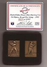 CAL RIPKEN & LOU GEHRIG HIGHLAND MINT BRZ MINI CARD New York Yankees / Orioles