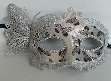 Butterfly Venetian Masquerade Party Face Mask - Black and Silver - *NEW*