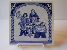 Delft Blue Holland Pill Tile Pharmacist Uroscopy Unicorn Porcelain LE 1987 #V