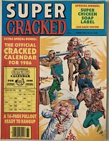 rare Super Cracked 1986 No 30 Magazine 16 page pull out calendar A Team comics