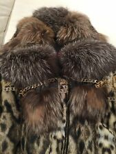 Roberto Cavalli Down Jacket with a Silver Fox