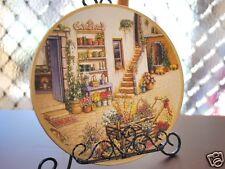 Ceramic Decoration Plate Antique N Flower Shop 20.5cm D