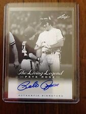 "PETE ROSE 2012 Leaf ""The Living Legend"" Auto Autograph Card # 37  REDS HOF?"