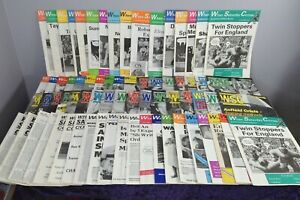 Large Bundle / Collection Of Vintage When Saturday Comes Football Magazines