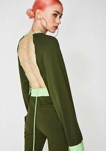 Puma x Fenty by Rihanna Womens Laced Sweatshirt Rifle Green  XXS, XS