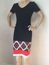 NWT St John Knit dress size 14 black caviar milano knit