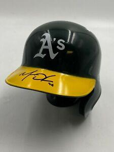 Matt Olson Signed Oakland Athletics A's Mini Baseball Helmet AUTO w/ JSA COA