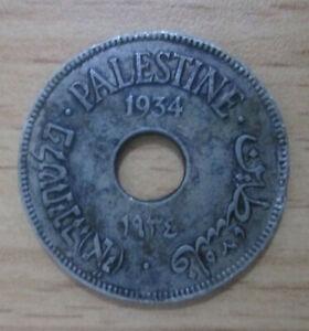 Palestine 10 Mils 1934  rare COIN