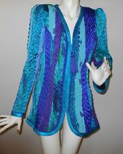 New Multicolored Evening Jacket by COLLECTION JEANNE MARC, size 8