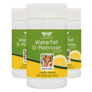 (3 Pack) Waterfall D-Mannose with alkalising Organic Lemon - Save £4.95 : 3TLE