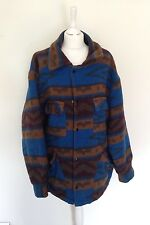 VTG RETRO AZTEC SUEDE URBAN TRIBAL NAVAJO OVERSIZED FESTIVAL JACKET COAT VGC XL