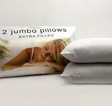 LUXURY Pack of 2, 4 or 8 Extra Filled Jumbo Bed Pillows Hotel Quality UK FAST