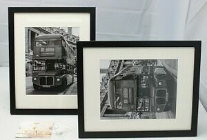 Vmuzeder Transitional Black Wood 11X14 Photo Picture Frames Set of 2 NICE👀 ~NEW