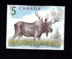 #1693 Scott 2003 used 5$ five dollar stamp Moose Canada Orignal Caribou timbre