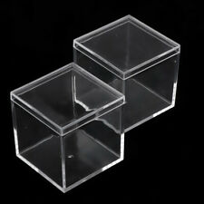 2 Pack Small Clear Plastic Beads Storage Containers Box with Lid for Jewelry