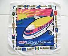 AIR JAMAICA SCARF SPIRIT OF THE CARIBBEAN COLORFUL COTTON FABRIC Vintage Collect